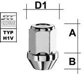 12x1.25 SW19 piulita inchisa con drept 60°
